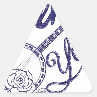 Wellcoda Folk Yeah Music Life Banjo Beat Triangle Sticker