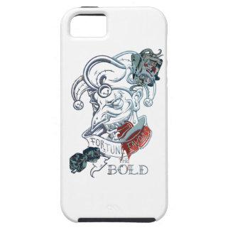 Wellcoda Fortune Favors Bold Evil Joker iPhone 5 Case