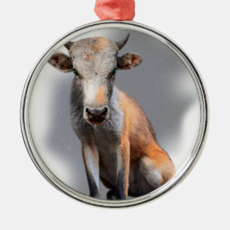 Wellcoda Fox Cow Freak Mutant Fake Animal Christmas Ornament