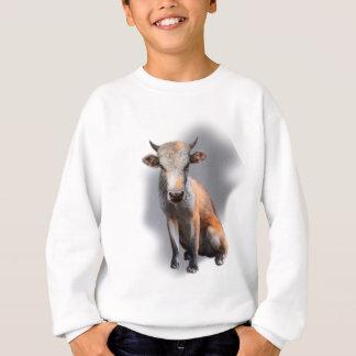Wellcoda Fox Cow Freak Mutant Fake Animal Sweatshirt