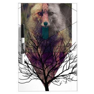 Wellcoda Fox Wild Hipster Foxy Forest Dry Erase Board