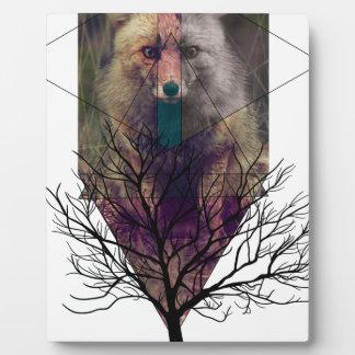 Wellcoda Fox Wild Hipster Foxy Forest Plaque