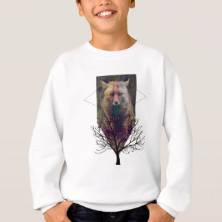 Wellcoda Fox Wild Hipster Foxy Forest Sweatshirt