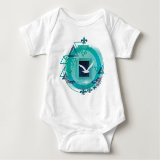 Wellcoda Freedom Galaxy Bird Fly Universe Baby Bodysuit