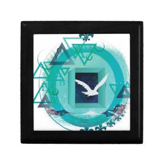 Wellcoda Freedom Galaxy Bird Fly Universe Small Square Gift Box