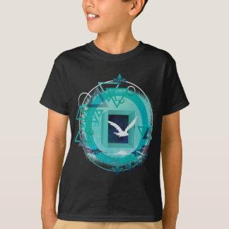 Wellcoda Freedom Galaxy Bird Fly Universe T-Shirt