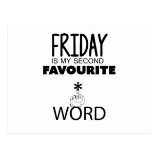 Wellcoda Friday Second Word TGIF Crazy Postcard