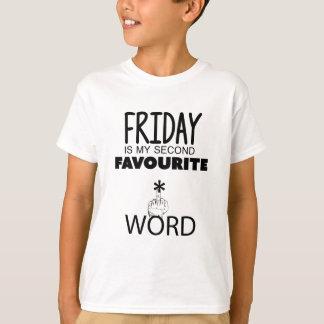 Wellcoda Friday Second Word TGIF Crazy T-Shirt