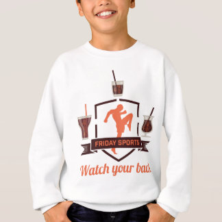 Wellcoda Friday Sport Drink Shot Glass Sweatshirt