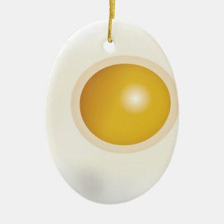 Wellcoda Fried Egg Morning Food Scrambled Ceramic Oval Decoration