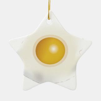 Wellcoda Fried Egg Morning Food Scrambled Christmas Ornament