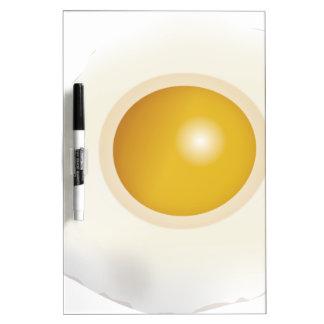 Wellcoda Fried Egg Morning Food Scrambled Dry Erase Board