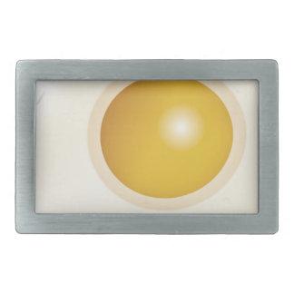 Wellcoda Fried Egg Morning Food Scrambled Rectangular Belt Buckle