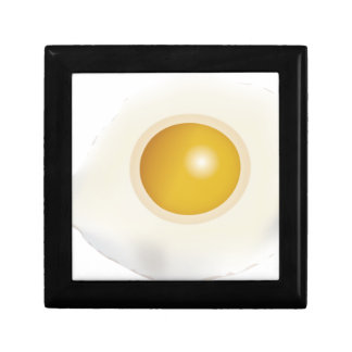Wellcoda Fried Egg Morning Food Scrambled Small Square Gift Box