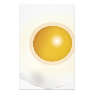 Wellcoda Fried Egg Morning Food Scrambled Stationery Paper