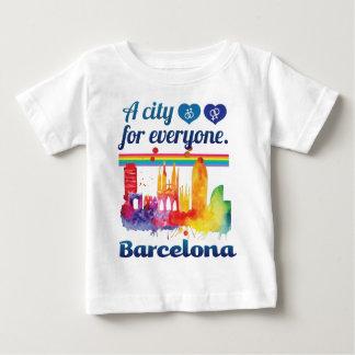 Wellcoda Friendly Barcelona Spain City Baby T-Shirt