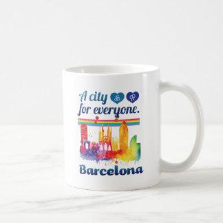 Wellcoda Friendly Barcelona Spain City Coffee Mug