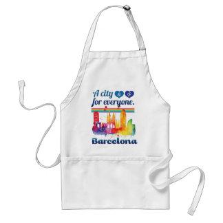 Wellcoda Friendly Barcelona Spain City Standard Apron
