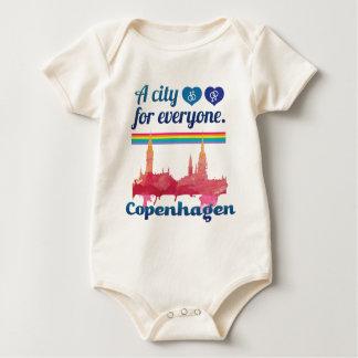 Wellcoda Friendly Copenhagen Denmark City Baby Bodysuit