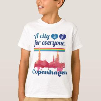 Wellcoda Friendly Copenhagen Denmark City T-Shirt
