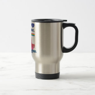 Wellcoda Friendly Copenhagen Denmark City Travel Mug
