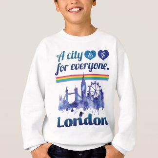 Wellcoda Friendly London City UK GB Love Sweatshirt
