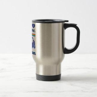 Wellcoda Friendly London City UK GB Love Travel Mug
