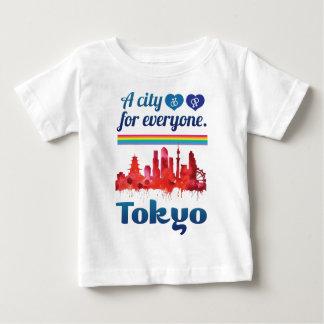 Wellcoda Friendly Tokyo City Japan Urban Baby T-Shirt