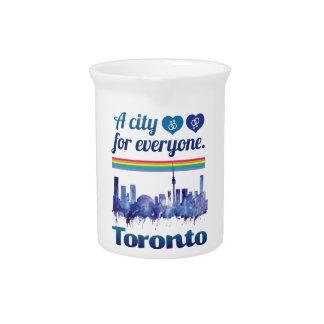 Wellcoda Friendly Toronto City Tolerance Pitcher
