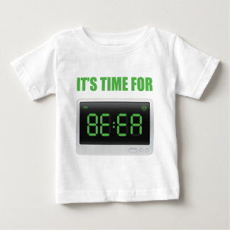 Wellcoda Fun Beer Time Clock Alarm Drink Baby T-Shirt