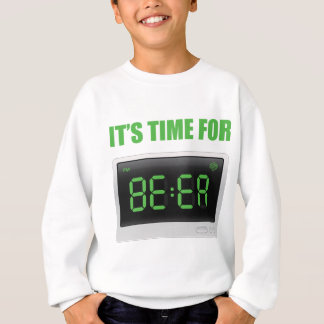 Wellcoda Fun Beer Time Clock Alarm Drink Sweatshirt