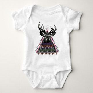 Wellcoda Fun Stag Diamond Deer Crazy Life Baby Bodysuit