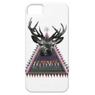 Wellcoda Fun Stag Diamond Deer Crazy Life Barely There iPhone 5 Case