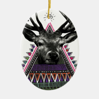 Wellcoda Fun Stag Diamond Deer Crazy Life Christmas Ornament