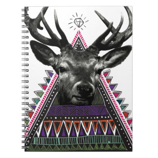 Wellcoda Fun Stag Diamond Deer Crazy Life Notebooks