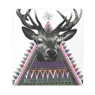 Wellcoda Fun Stag Diamond Deer Crazy Life Notepad