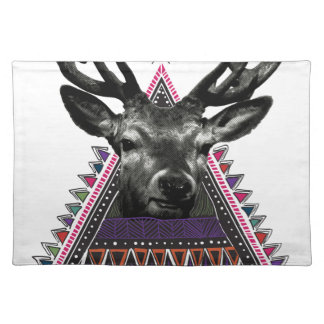 Wellcoda Fun Stag Diamond Deer Crazy Life Placemat