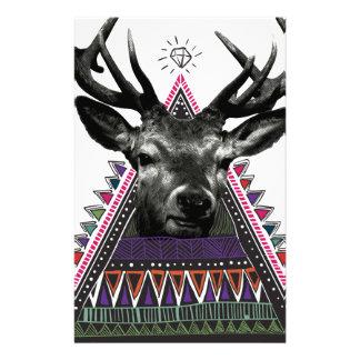 Wellcoda Fun Stag Diamond Deer Crazy Life Stationery