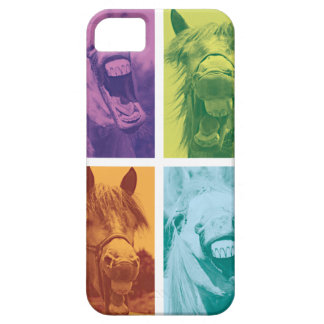 Wellcoda Funny Animal Laugh Crazy Horse Barely There iPhone 5 Case