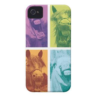 Wellcoda Funny Animal Laugh Crazy Horse iPhone 4 Case