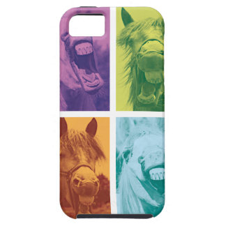 Wellcoda Funny Animal Laugh Crazy Horse Tough iPhone 5 Case