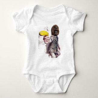 Wellcoda Funny Gorilla Suit Monkey Banana Baby Bodysuit