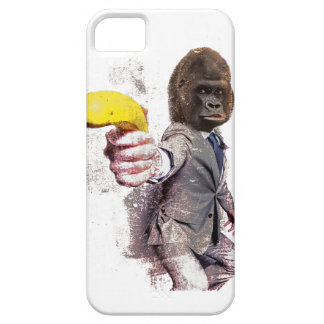 Wellcoda Funny Gorilla Suit Monkey Banana Case For The iPhone 5