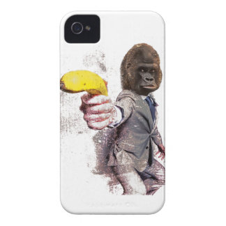 Wellcoda Funny Gorilla Suit Monkey Banana iPhone 4 Cases