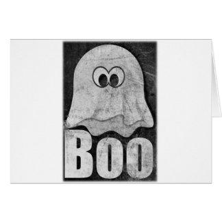 Wellcoda Funny Spooky Ghost Comedy Face Card