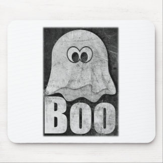 Wellcoda Funny Spooky Ghost Comedy Face Mouse Pad