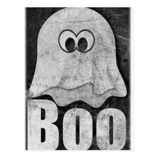 Wellcoda Funny Spooky Ghost Comedy Face Postcard