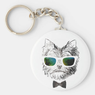 Wellcoda Funny Swag Dog Puppy Cool Pet Basic Round Button Key Ring