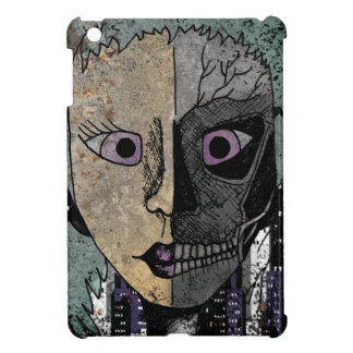 Wellcoda Girl Face Skeleton Half Head Cover For The iPad Mini