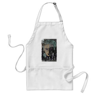 Wellcoda Girl Face Skeleton Half Head Standard Apron